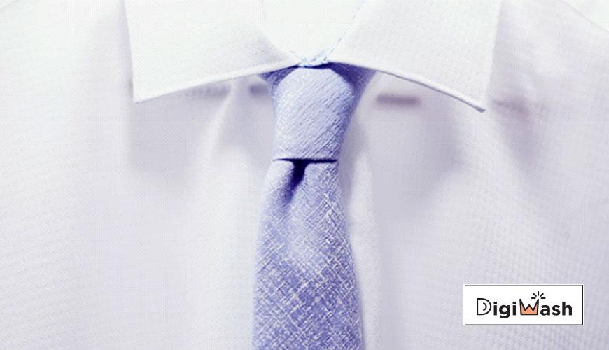 شستشو یقه پیراهن مردانه