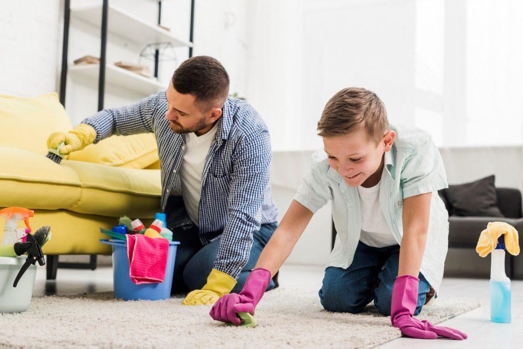 شستن فرش با وایتکس