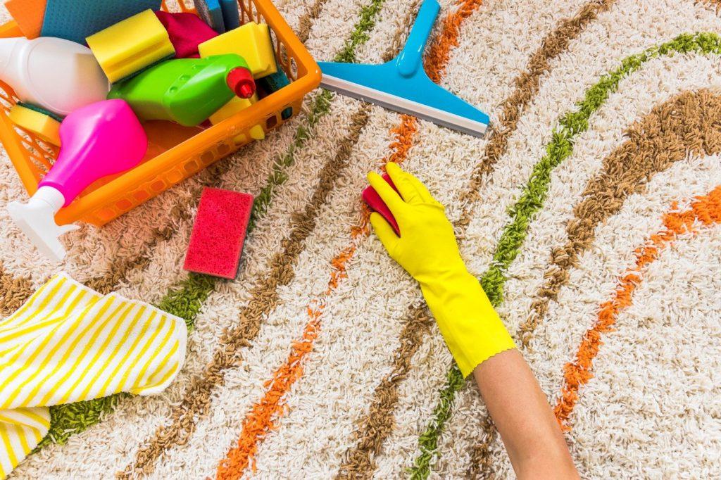 شستن فرش با وایتکس - فرش ماشینی