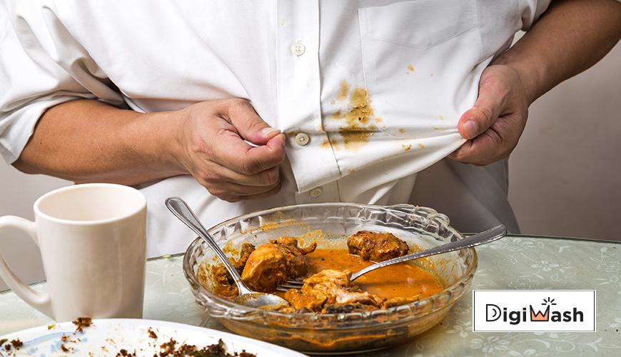 پاک کردن انواع لکه غذا از روی لباس