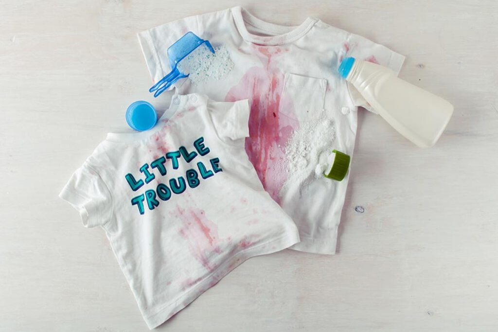 سریع ترین روش از بین بردن لکه روی لباس نوزاد